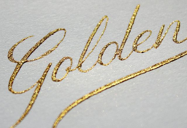 golden calligraphy by seb lester