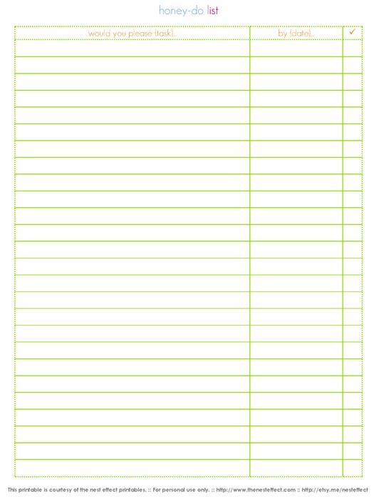 printable printable honey do list task daily to weekly plan not