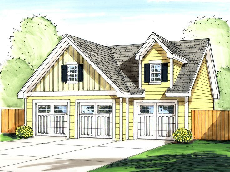21 best 1 car garage with loft house plans 47333 for Single car garage plans with loft