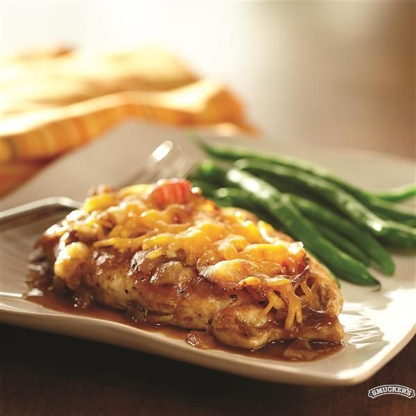 Cheddar Bacon Chicken with Apple Butter Sauce - Smucker's