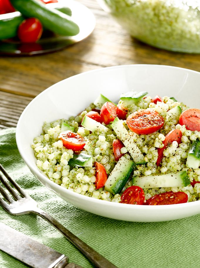 Healthy Eating: Couscous Salad with Broccoli Pesto