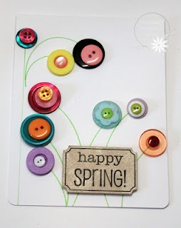 Buttons as flowers