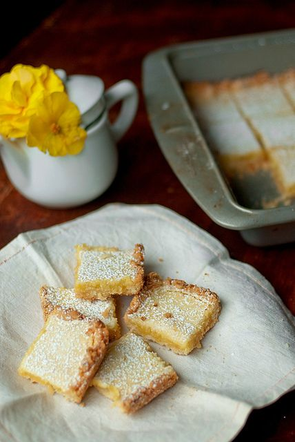 Lemongrass and Coconut Shortbread Bars by Cheese and Chocolate