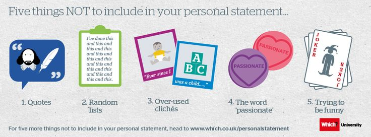 Things to include in a personal statement