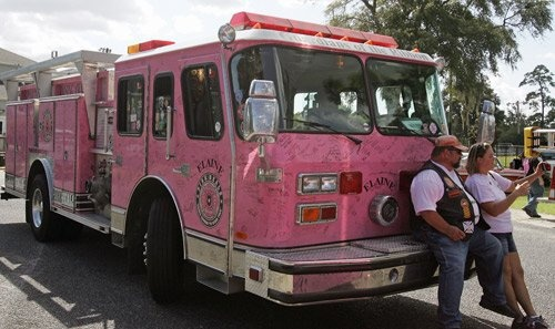Brought to you by http://www.etsy.com/shop/UncommonRecycables Pink Firetruck??? Who Knew? :)