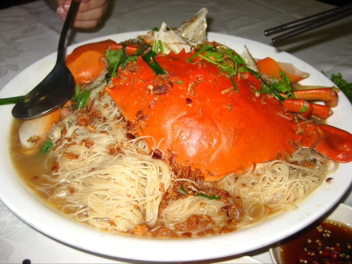 crab with rice vermicelli (bee hoon) | Yums! | Pinterest