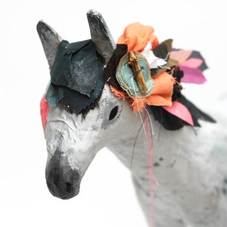 Paper m ch horse abigail brown objects and things for Paper mache objects