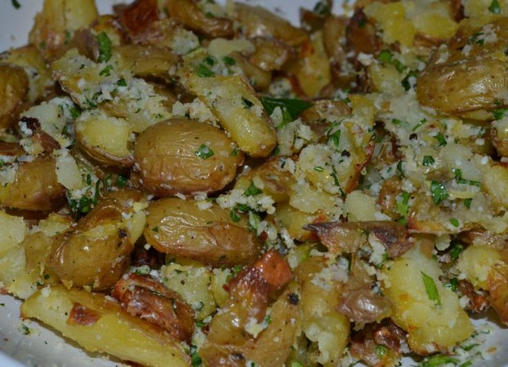 Parmesan Gremolata Smashed Potatoes Recipes — Dishmaps