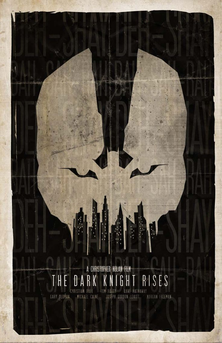 Awesome fan made Dark Knight Rises poster
