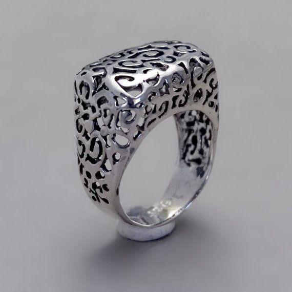 sterling silver ring handmade sterling silver filigree