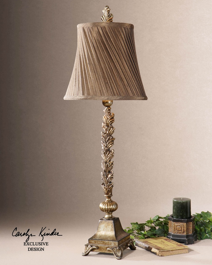 Laurent French Country Leaf Design Buffet Table Lamp Tuscan Old World