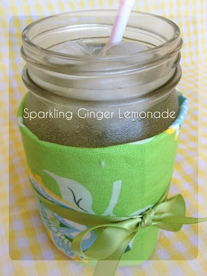 Sparkling Ginger Lemonade Made with Hansen's Natural Soda