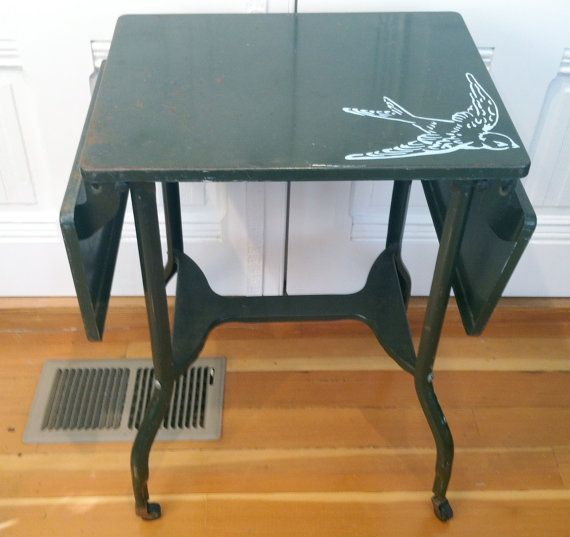Vintage Metal Table With Bird Space Pinterest