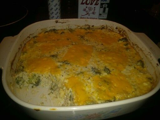 Broccoli, Cheese, and Chicken Casserol without mushrooms or mushroom ...