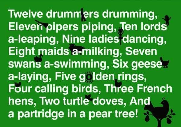 You can Print 12 Days of Christmas Lyrics Printable for Kids