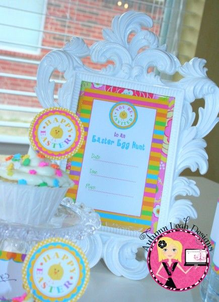 Easter party printables..Love this frame!!
