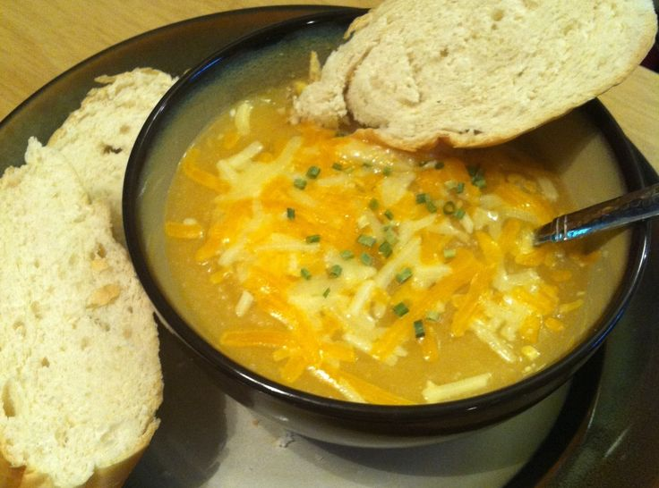 Golden Potato and Cauliflower Soup | soup for me | Pinterest