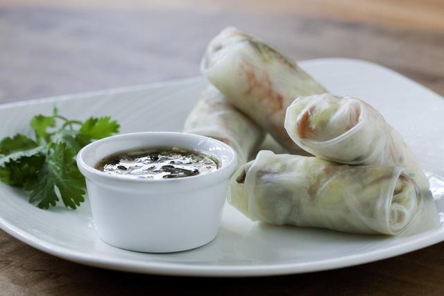 Jumbo Shrimp Spring Roll at Pinon Grill | GABlicious | Pinterest