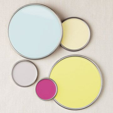 I love this fresh color combo for a kitchen... vintage, eclectic, and fun!