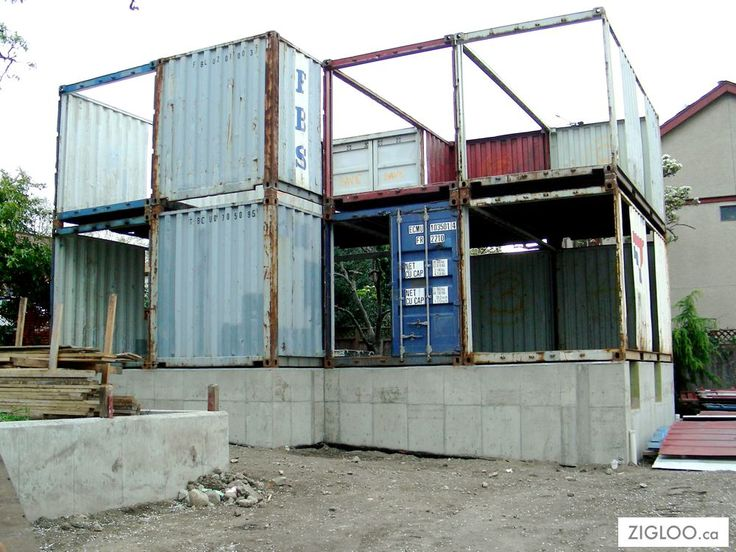 Shipping Container Home Construction 736 x 552