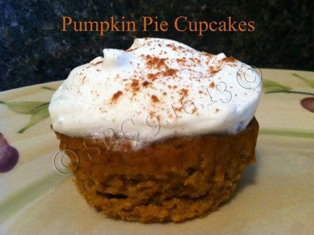 Pumpkin pie cupcakes   Recipes   Pinterest