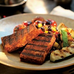 Chile spice rubbed stake style tofu. | Veggie Love | Pinterest