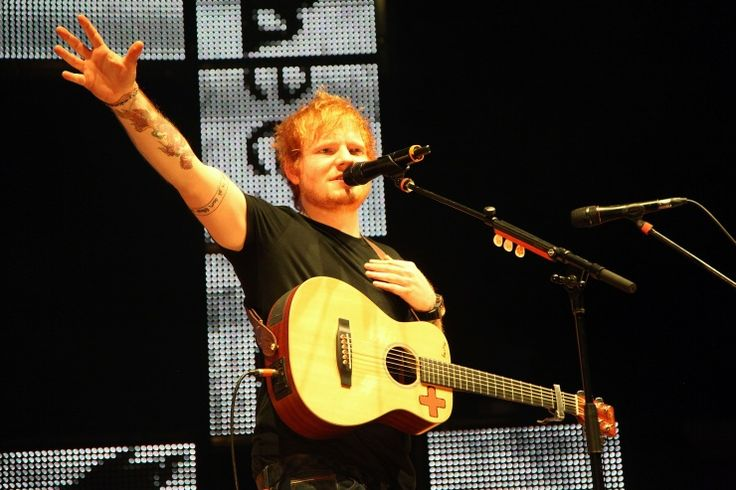 Reach out and touch someone's hand. Ed Sheeranstretches his performance on Oct. 29 in New York