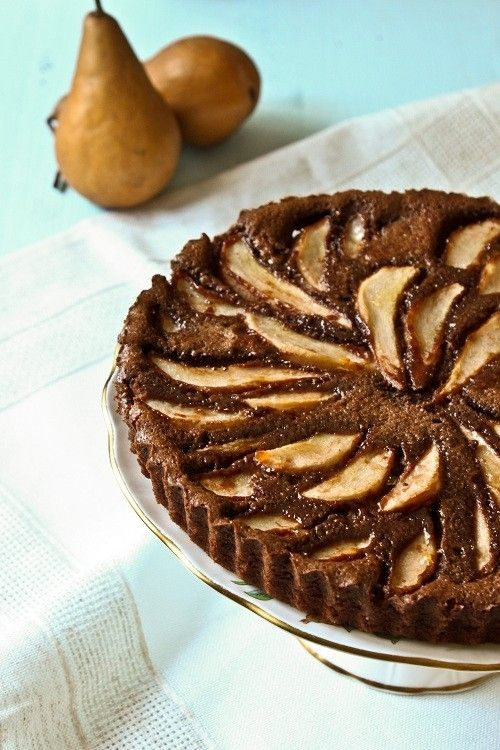 Chocolate Pear Tart | The Art Of Pie | Pinterest