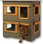 Ranch Outdoor Duplex 2 Story Cat House