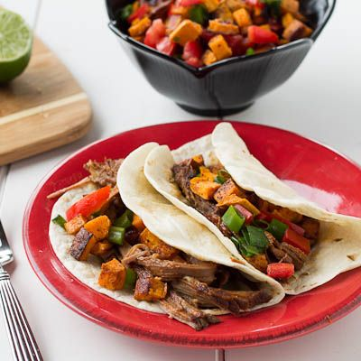 ... BBQ Brisket Tacos with Sweet Potato Salsa — Spicy Southern Kitchen
