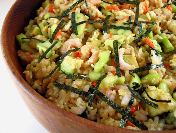 sushi roll salad. | Asian-ish Flavors | Pinterest