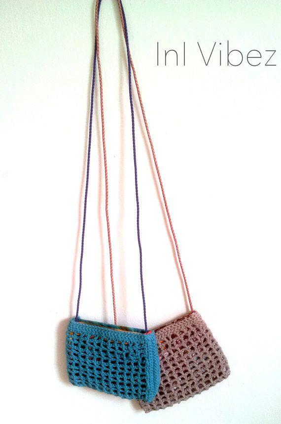 Crochet Net Bag : InI litte fisherman Crochet crossbody net bag by SovereignGarments, $ ...