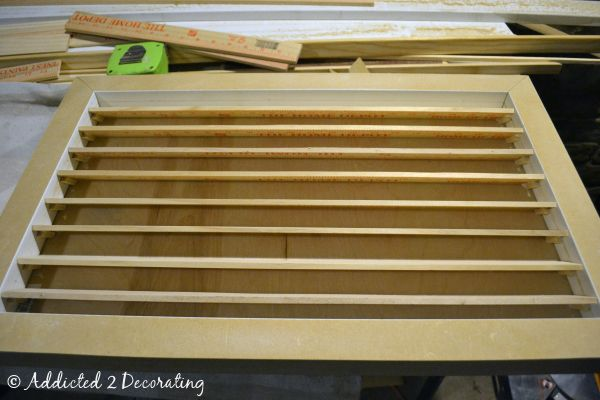 Diy custom wood air return vent cover for the home for Fewell custom homes