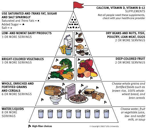 1992 food guide pyramid food guide pyramid for older adult