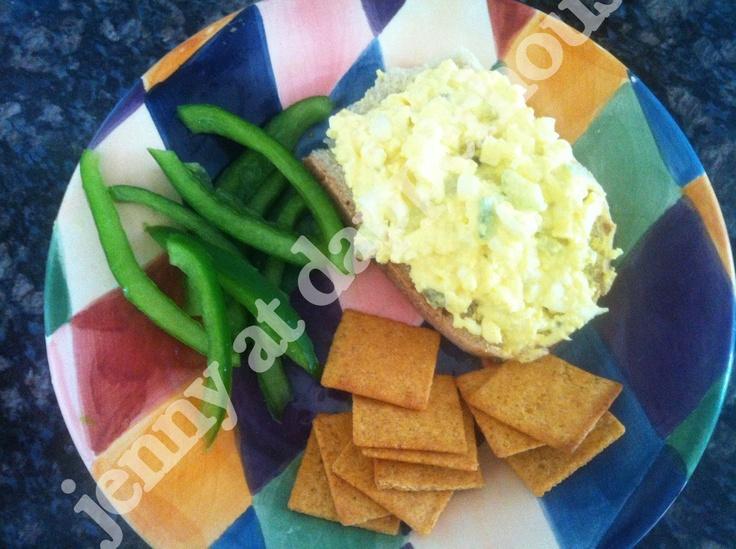 Easy Deviled Egg Salad Sandwich Recipe | jennyatdapperhouse.com (use ...