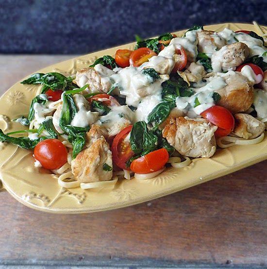 Grilled Chicken Florentine Pasta | Recipe
