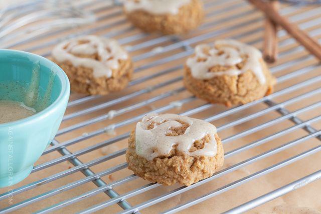 Pumpkin Spice Cookies with Vanilla Cinnamon Icing