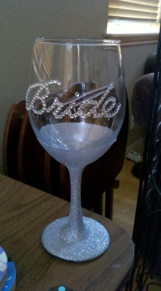 Pin by sandy franke on wedding pinterest for Spray painting wine glasses