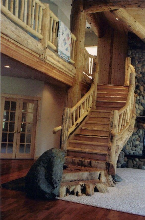 Best Unique Rustic Custom Staircases Dream Home Pinterest 400 x 300