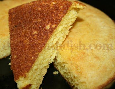 Southern Skillet Cornbread...baked in an iron skillet