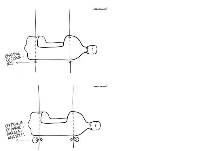 jardim vertical autocad:Horta vertical de garrafa pet!