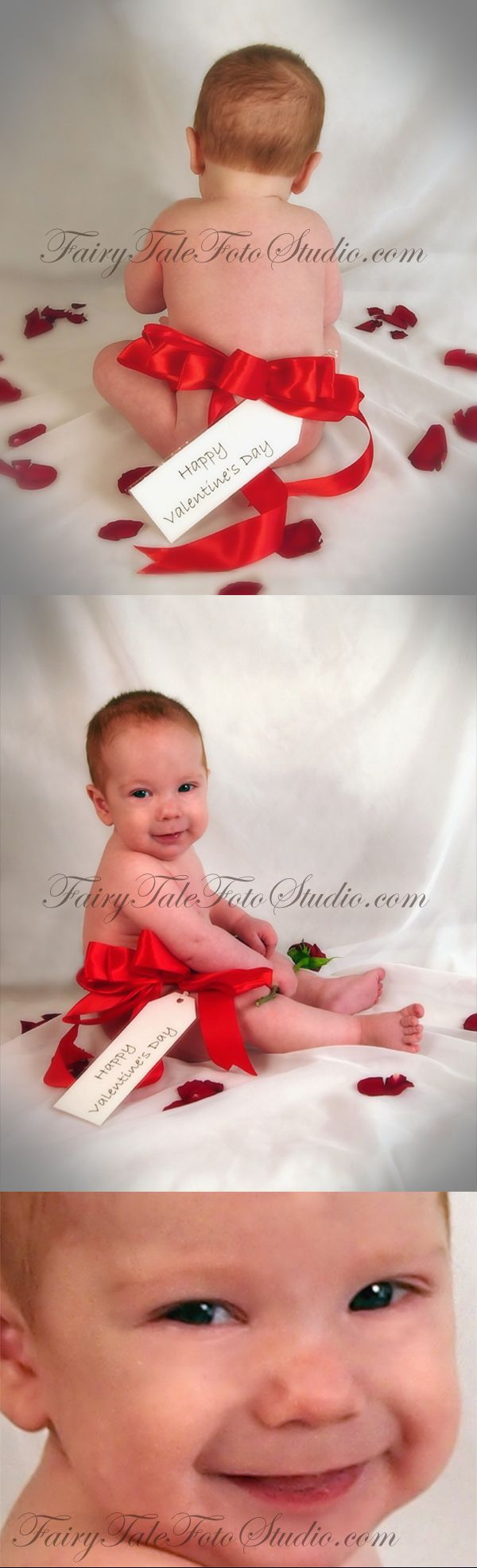 just kids photography: happy valentine's day baby bow: 3 month old, Ideas