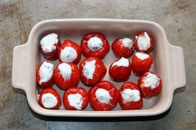 Cheese stuffed peppadews | Delicious | Pinterest