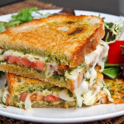 Caprese Grilled Cheese Panini | Bon Appetit* | Pinterest