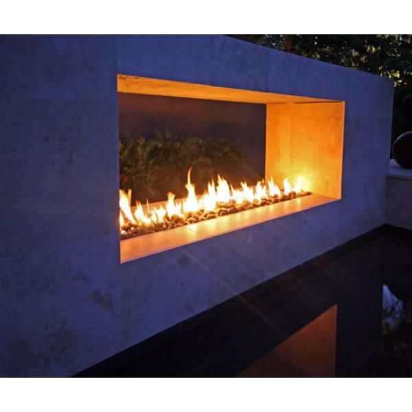 Outdoor See Thru Fireplace Home Pinterest