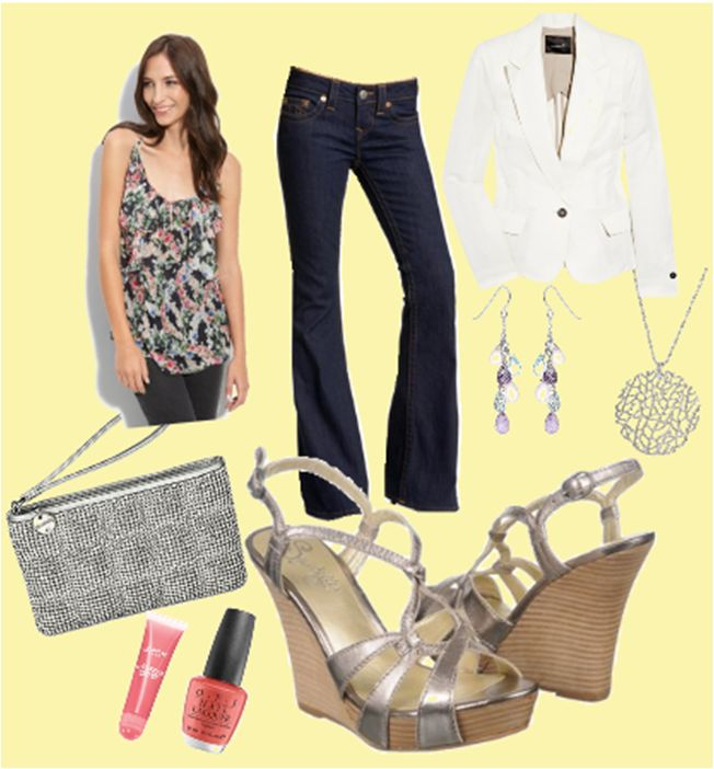 What #Shoes to Wear with Wide Leg #Jeans? Wedges