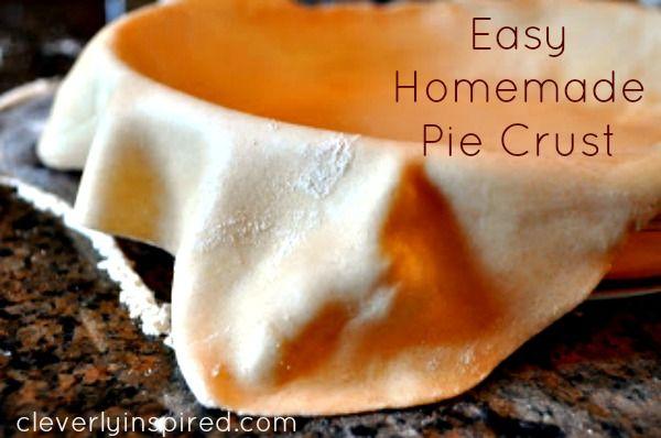 easy homemade pie crust | {prodotti da forno} | Pinterest