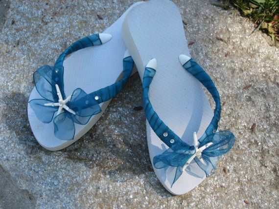 wedding flip flops blue weddings pinterest