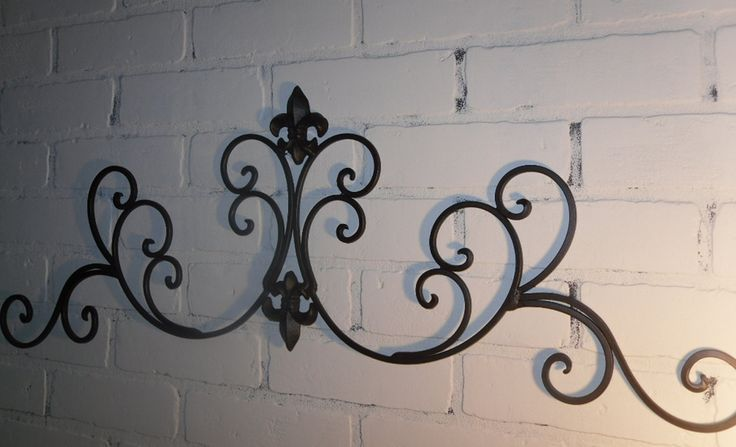 Wrought Iron Fleur De Lis Wall Decor Shabby Chic Decor