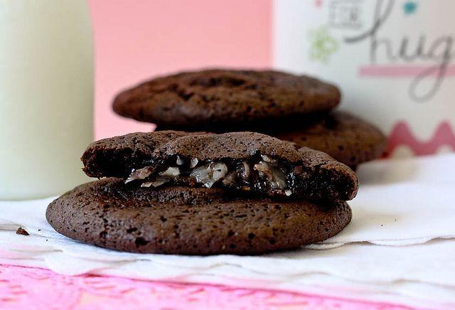 Coconut Filled Fudge Cookies | Desserts | Pinterest